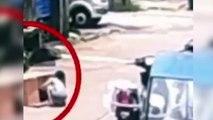 Milagro en China: niña en una caja se salva tras pasarle un coche por encima