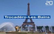 Canicule à Paris: Vacanciers et Parisiens transforment la fontaine du Trocadéro en piscine géante