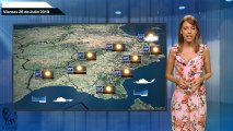 El pronóstico del tiempo para el viernes 26 de julio.