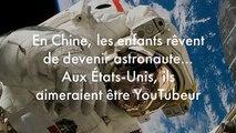 En Chine, les enfants rêvent de devenir astronaute… Aux États-Unis, ils aimeraient être YouTubeur