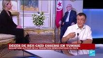 """TUNISIE - Décès d'Essebsi  """"le président suivant devra s'adresser à la jeunesse"""""""