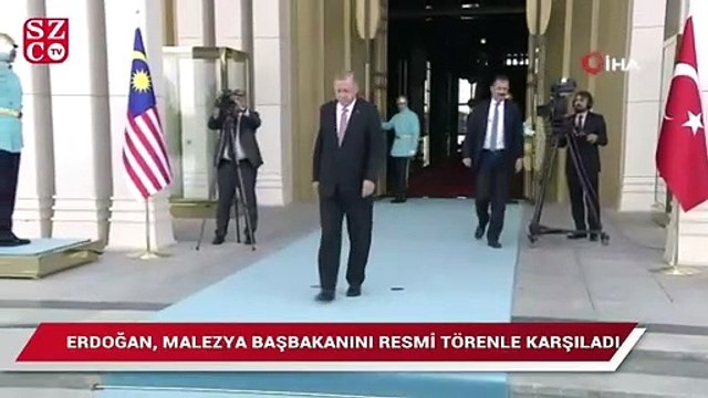 Erdoğan Malezya Başbakanı Muhammed'i karşıladı
