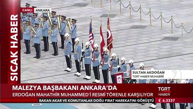 Cumhurbaşkanı Erdoğan, Malezya Başbakanı Mahathir Muhammed'i Resimi Törenle Kaşıladı