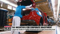 Korean gov't announces revised tax law increasing tax credits for corporate investment