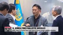N. Korea fired new type of short-range ballistic missile: NSC