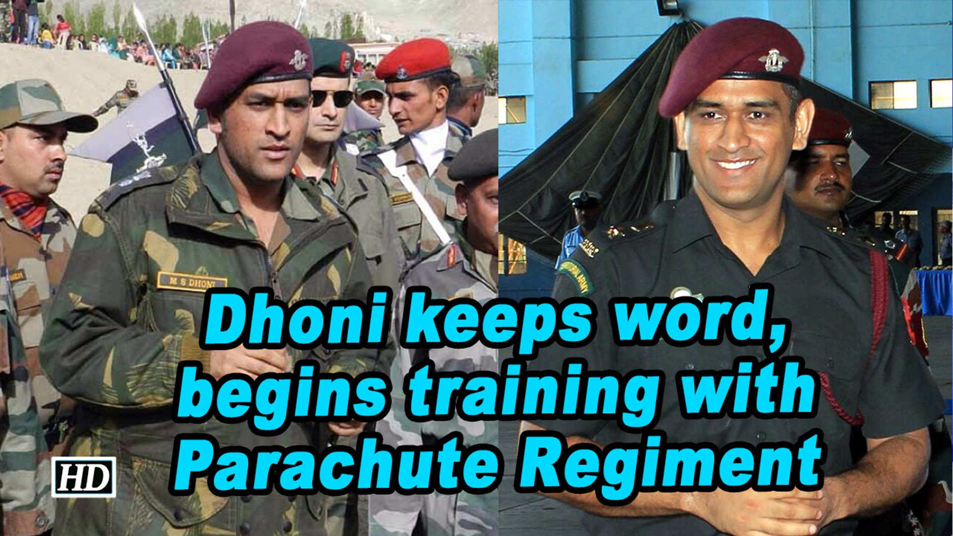 Dhoni keeps word, begins training with Parachute Regiment