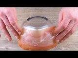 Collez le jambon sur un bol. La magie se produit dans le four.