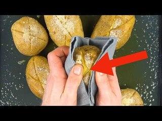 Il taille un X dans 10 pommes de terre, 45 minutes plus tard il y a de quoi s'émerveiller.