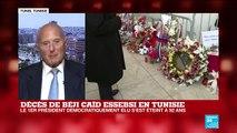 """TUNISIE - Décès d'Essebsi : """"sa disparition n'aide pas à arranger les choses"""""""