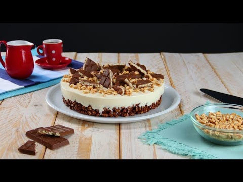 Gostosa e crocante: torta de chocolate com cereais