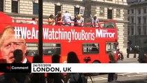 Manifestations à Londres après l'élection de Boris Johnson
