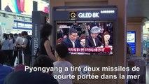 Les Sud-Coréens regardent les informations sur le tir des missiles nord-coréens
