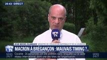 """Macron à Brégançon: Jean-Michel Blanquer assure """"ne pas avoir l'impression qu'il est en vacances"""""""