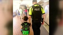 Single mom and son with autism reunite with police officer who calmed boy on train
