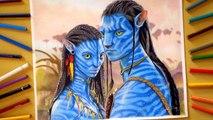 Speed Drawing: Neytiri and Jake Sully - Avatar
