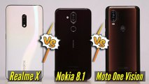 Realme X Vs Moto One Vision Vs Nokia 8.1