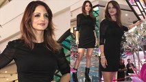 Hrithik Roshan's wife Sussanne Khan looks gorgeous in black dress; Watch Video | FilmiBeat