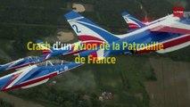 Un avion de la Patrouille de France sort de piste, le pilote s'éjecte