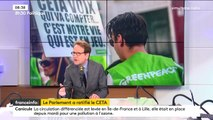 """""""Le Ceta, c'est bon pour l'environnement (...) Nous avons pu démontrer que l'effet sur les émissions carbone était quasiment proche de zéro"""", assure Gilles Le Gendre"""