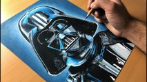 Drawing Darth Vader - Star Wars - Time-lapse - Artology