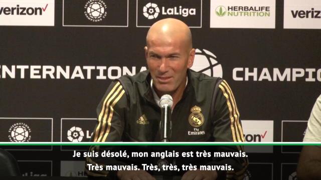 """Transferts - Zidane après avoir répondu sur Bale : """"Désolé, mon anglais est très mauvais"""""""