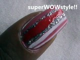 Rosy Stripes - EASY nail designs tutorial