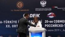 ANTALYA) Ticaret Bakanı Ruhsar Pekcan Türkiye-Rusya İş Forumu ile Türkiye-Rusya Hükümetlerarası 16. Dönem KEK Toplantısı İmza Töreni'ne katıldı
