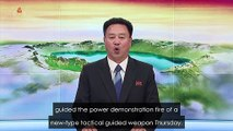 NKorea TV broadcast says missile test is warning to South
