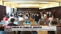 Juventus players meet with fans ahead of match against S. Korean all-stars