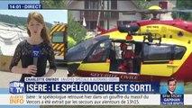 Le spéléologue disparu dans un gouffre en Isère a été extrait par les secours