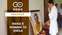 Rahul Visits Late Sheila Dikshit's Family