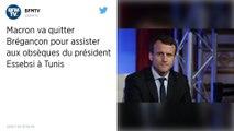Emmanuel Macron présent samedi à Tunis aux funérailles du président Essebsi