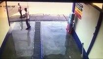 Cet homme échappe de peu à la mort dans une station de lavage