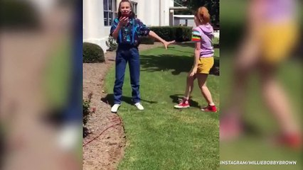 'Stranger Things' Stars Millie Bobby Brown And Sadie Sink Recreating 'Frozen' Is The Best Thing We've Seen Today-