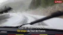 Tour de France : la 19e étape stoppée par la grêle