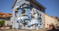 Ce street artiste réalise d'impressionnantes illusions d'optiques sur les murs