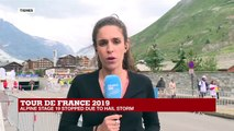 Tour de France 2019: Alpine stage 19 stopped due to hail storm