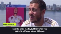 (Subtitled) 'I learn everyday from Zidane' Hazard