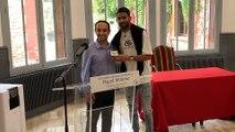 Sarcelles : le champion d'Afrique Riyad Mahrez reçoit la médaille de la ville