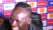 Sadio Mané réagit aprés l victoire du Sénégal sur la Tunisie