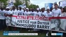 Rouen : marche blanche en l'hommage de Mamoudou Barry