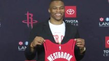 Russell Westbrook REVEALS Plan To Win Championships With James Harden & Gets His NEW Rockets Jersey!