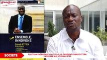 Élection présidence UNJCI 2019- Le candidat FRANCK ETTIEN s'adresse aux journalistes