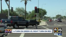 Who has the right of way: A vehicle making a U-turn or going right on red?