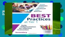 [READ] Best Practices at Tier 1 [secondary]: Daily Differentiation for Effective Instruction,