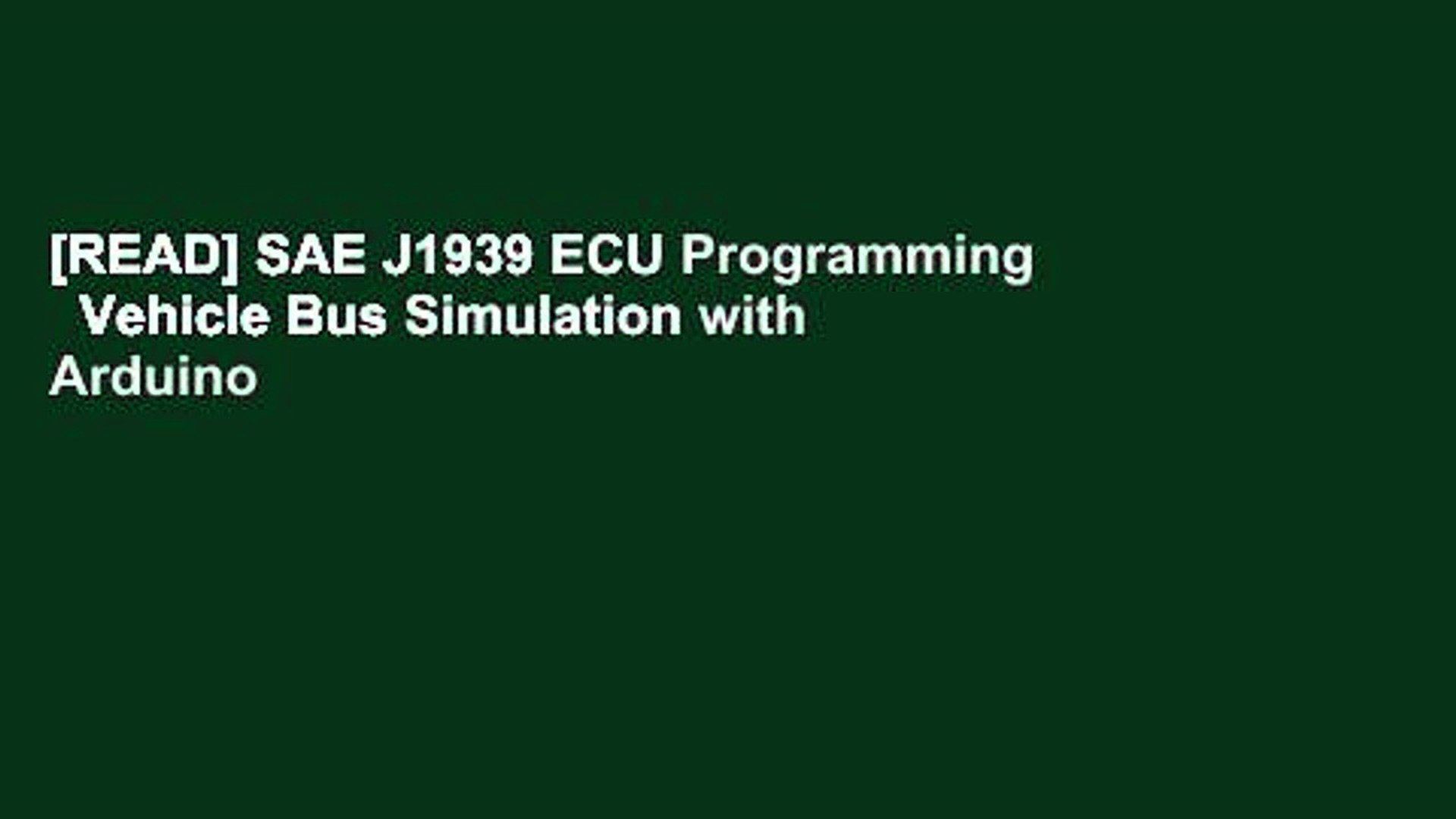 [READ] SAE J1939 ECU Programming Vehicle Bus Simulation with Arduino