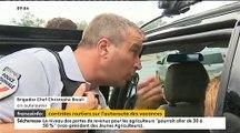 Départs en vacances: Les policiers multiplient les contrôles sur les automobilistes tout au long du week-end - VIDEO