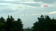 DHA DIŞ- Fırlatma sonrası motoru duran roket denize düştü