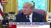 Donald Trump insulte Emmanuel Macron après sa taxe Gafa (Vidéo)