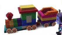 DIY - How To Make Rainbow Train With 25000 Magnetic Balls | 100% Satisfaction Magnet Balls